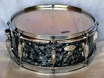 14&#34;X5.5&#34; 10ply Hi Gloss Black Pearl Snare Drum